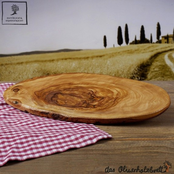 Cutting board or platter for snack, cheese and ham in a natural shape