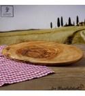 Olive wood Tree Trunk Cutting board with bark