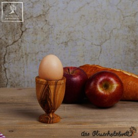 Egg cup, classic shape, olive wood