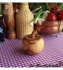 Gift idea! Decorative olive wood pots