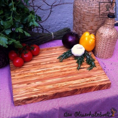 Large chopping board made of olive wood