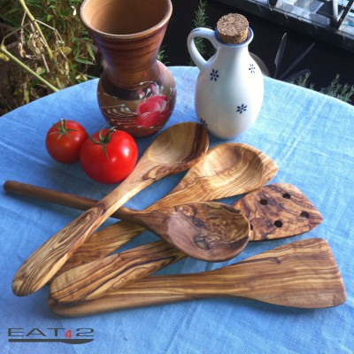 olive wood spatula kitchen aid Set - 5 pcs