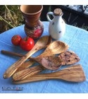 olive wood spatulas containing 5 pieces