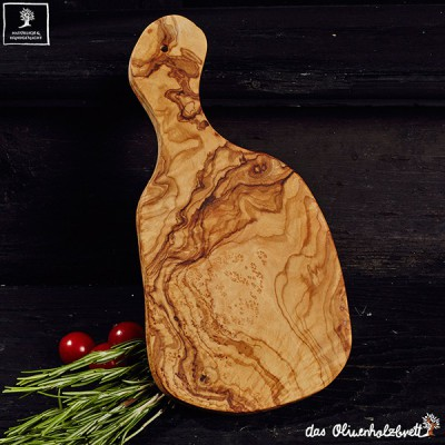 typical cutting board mediterranean style, with handle