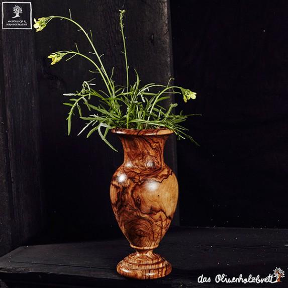 olivewood vase