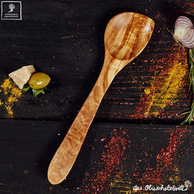 serving spoon olivewood