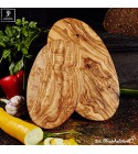oval cutting board olive wood