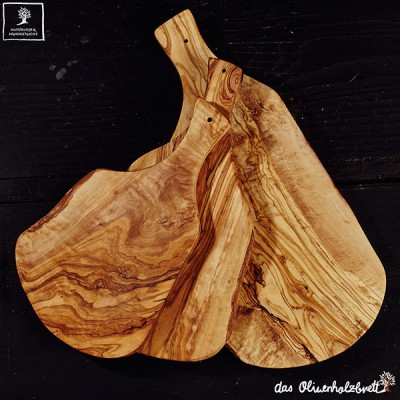 Natural shape cutting baord with handle
