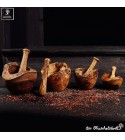Mortar and pestle rustic style, naturally & handmade