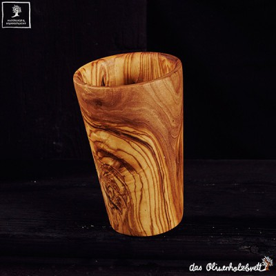 Mug out of olive wood