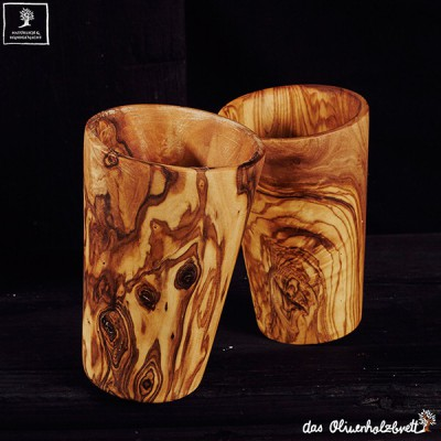 Wooden cup, set of 2