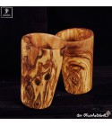 olive wood cups 2pcs