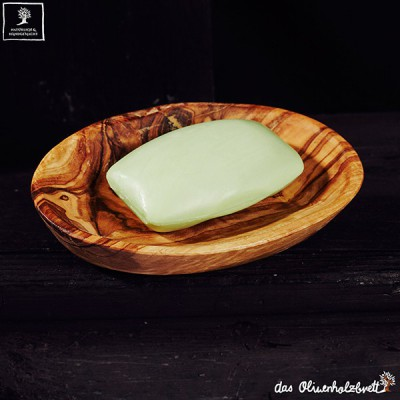 Oval soap dish set