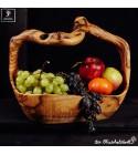 Fruit basket made of olive wood
