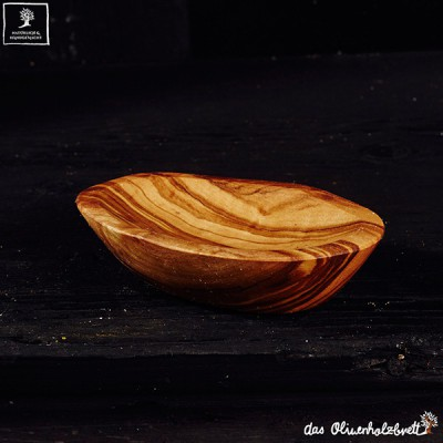 small olivewood bowl, modern style, oval