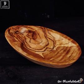 Flat oval bowl
