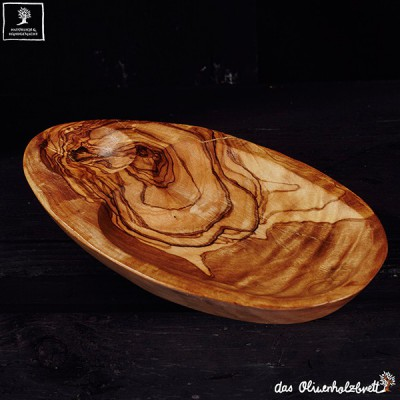 Wooden Oval flat bowl
