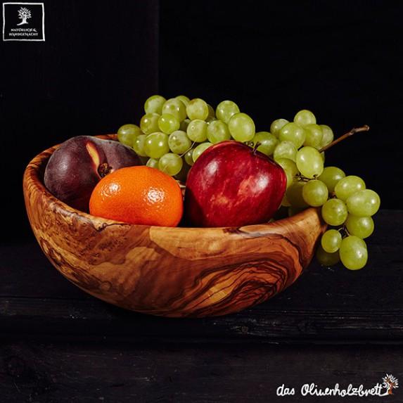 Wooden bowl for salads or vegetables