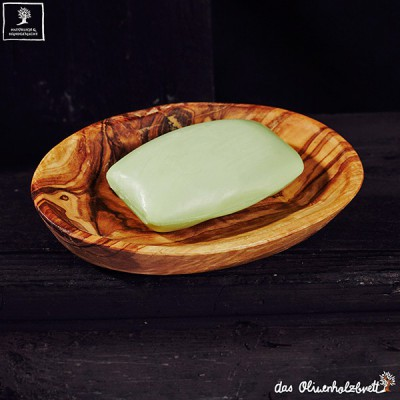 Oval soap holder inclusive soap 100g