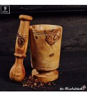 Mortar and pestle in a traditional style