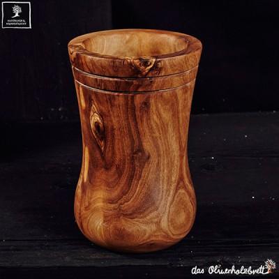 Utensil Holder olive wood + set of 3 utensils