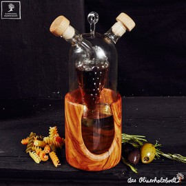 Artistic oil & vinegar serving